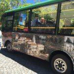 Pena Şatosu bahçesinde otobüse mi binilir , yürüyün...